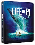 LIFE OF PI + LENTICULAR MAGNET + 40P BOOKLET 3D + 2D Steelbook™ Limited Collector's Edition + Gift Steelbook's™ foil (Blu-ray 3D + Blu-ray)