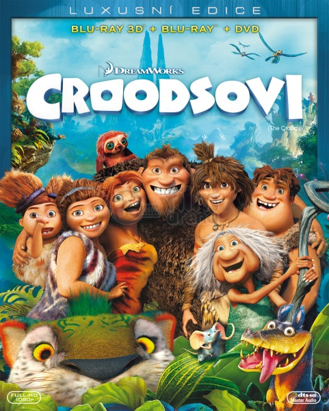 The Croods 2 Movie: The Croods 3D + 2D (Blu-ray 3D + Blu-ray + DVD
