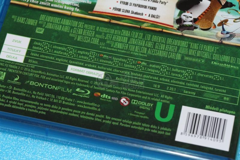 Kung Fu Panda 3 Blu Ray