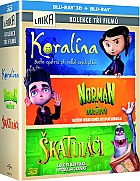 Coraline-Paranorman-The Boxtrolls (3BD) collection 3D + 2D Collection (3 Blu-ray 3D)