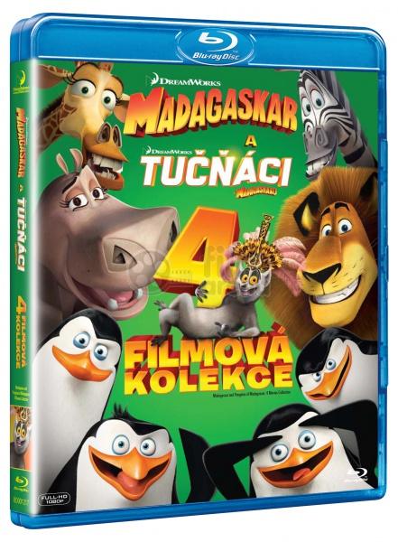 Collection Madagascar 1-3 + The Penguins of Madagascar (4