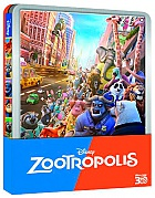 Zootopia 3D + 2D Steelbook™ Limited Collector's Edition + Gift Steelbook's™ foil (Blu-ray 3D + Blu-ray)