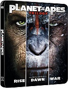 PLANET OF THE APES 1 - 3 Steelbook™ Collection Limited Collector's Edition + Gift Steelbook's™ foil (3 Blu-ray)