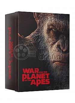 FAC #95 WAR FOR THE PLANET OF THE APES MANIACS Collector's BOX (featuring E1 + E2 + E3 + E5B) EDITION #4 WEA Exclusive 4K Ultra HD 3D + 2D Steelbook™ Limited Collector's Edition - numbered