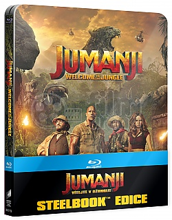 JUMANJI: WELCOME TO THE JUNGLE (Title on Front Side and Spine - US Version) 3D + 2D Steelbook™ Limited Collector's Edition + Gift Steelbook's™ foil