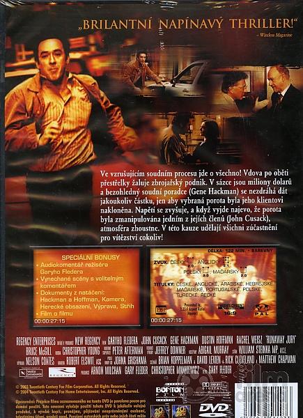 Runaway Jury Dvd