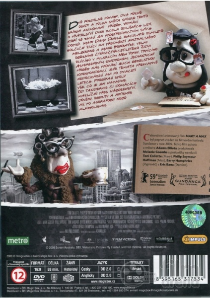 Mary And Max Dvd
