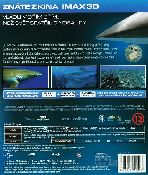Sharks 3d Blu Ray 3d