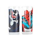 SPIDER-MAN AND VENOM GLASS SET 2 PCS (Merchandise)